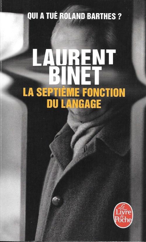 Laurent Binet, la Septième Fonction du langage, 2016, couverture