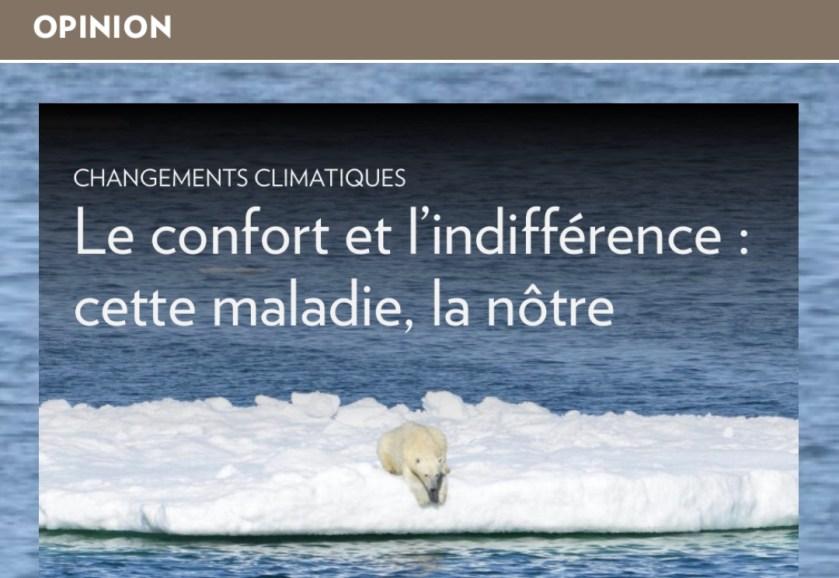 «Le confort et l'indifférence», la Presse+, 4 juillet 2019