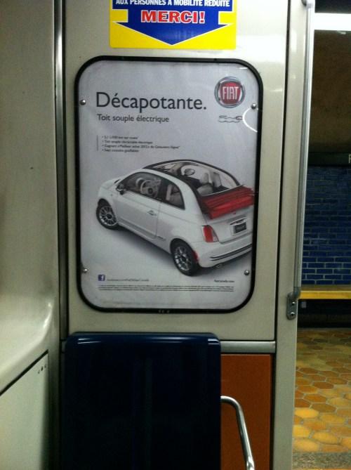 «Décapotante», publicité automobile, 2012
