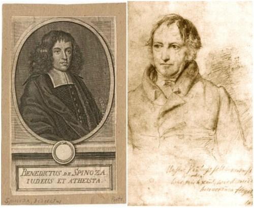 Portraits de Spinoza et d'Hegel
