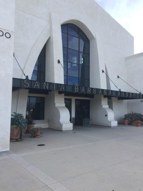 Aéroport de Santa Barbara, Californie, façade, février 2017