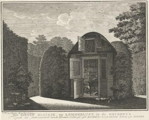 Vue d'une maison de jardin, par Caspar Jacobsz. Philips, 1752-1789