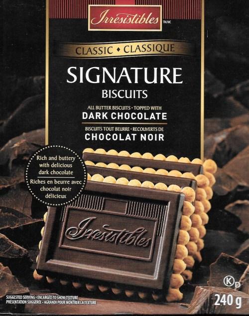 Signature biscuits, emballage