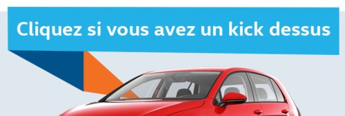 Publicité pour Volkswagen, la Presse+, mai 2017
