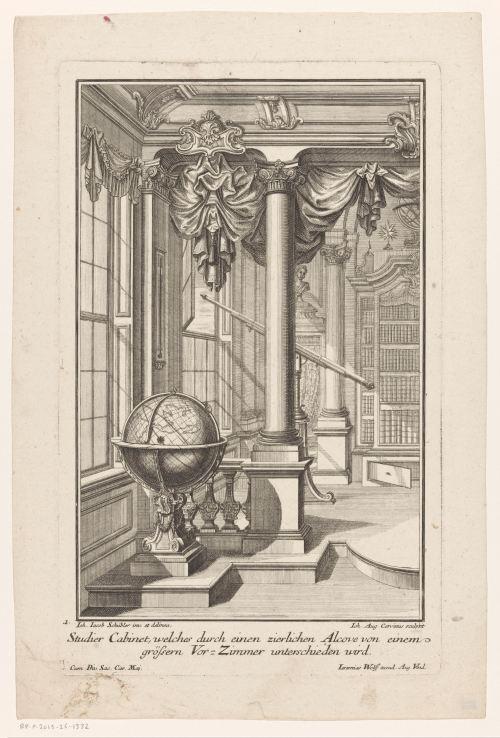 Cabinet d'étude, vers 1724