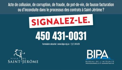 Appel à la lutte contre le crime, Saint-Jérôme, Québec, juin 2017