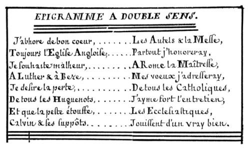 «Épigramme à double sens», 1760