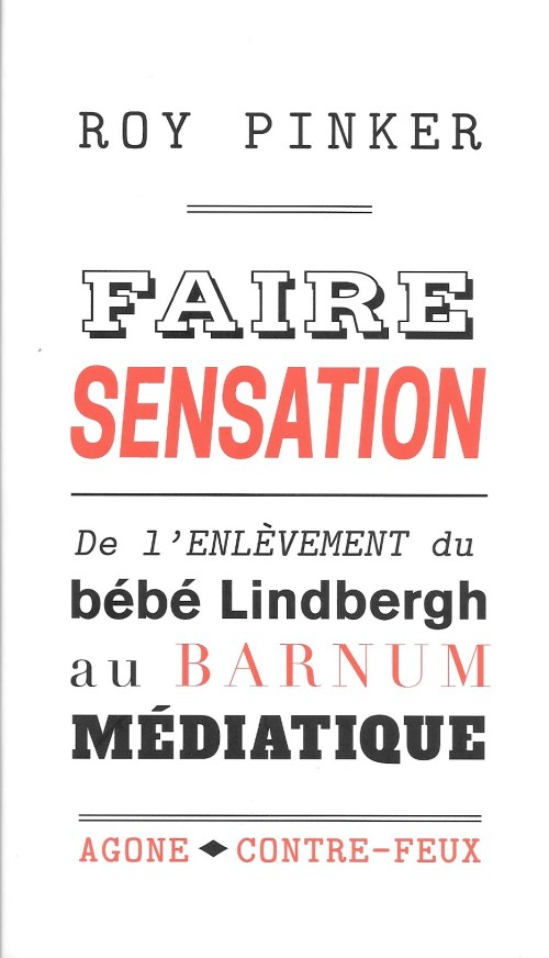 Roy Pinker, Faire sensation, 2017, couverture
