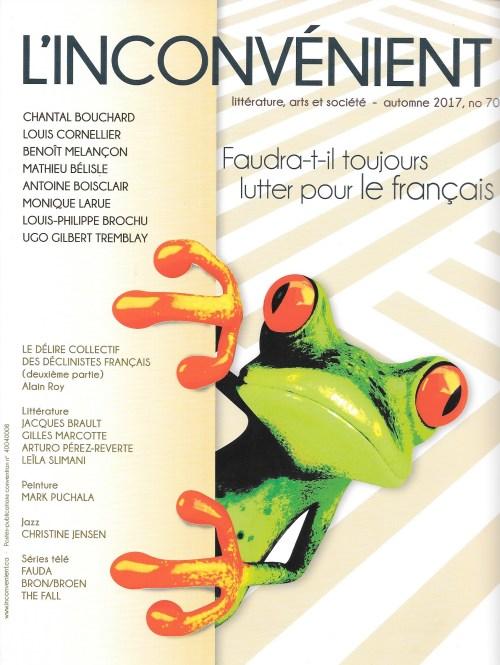 L'Inconvénient, 70, automne 2017, couverture