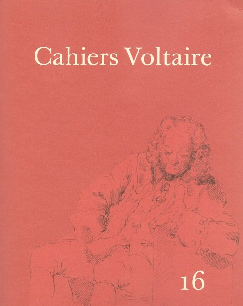Cahiers Voltaire, 16, 2017, couverture