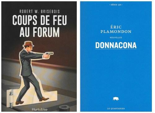 Coups de feu au Forum et Donnacona, couvertures, collage