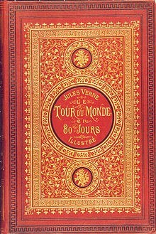 Jules Verne, Voyage au centre de la terre, 1864, couverture