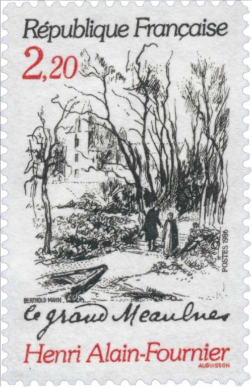 Alain-Fournier, le Grand Meaulnes, timbre-poste