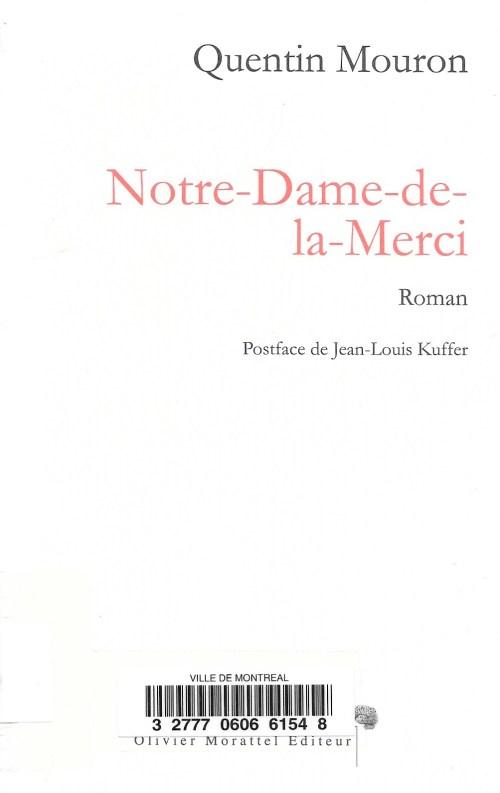 Quentin Mouron, Notre-Dame-de-la-Merci, 2012, couverture
