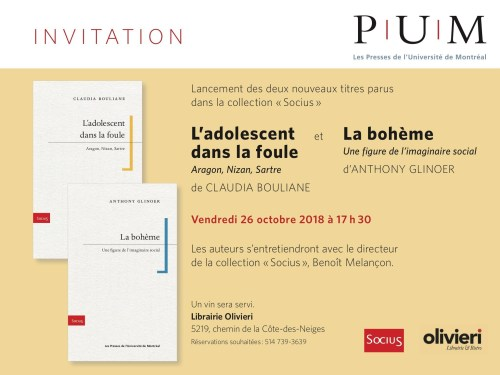 Collection «Socius», invitation, 26 octobre 2018