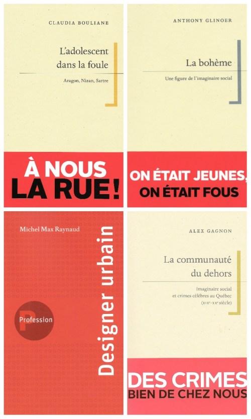 Couvertures de quatre nouveautés, Presses de l'Université de Montréal, automne 2018