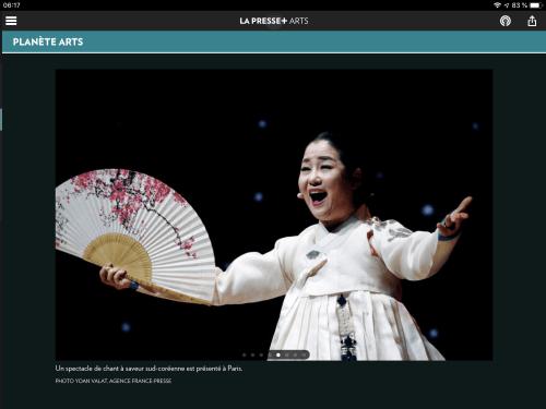 «À saveur sud-coréenne», la Presse+, 15 octobre 2018