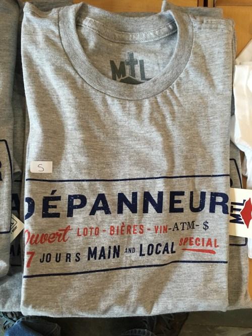 Dépanneur, t-shirt, Musée McCord, juillet 2017