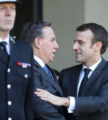 François Legault et Emmanuel Macron, Paris, janvier 2019