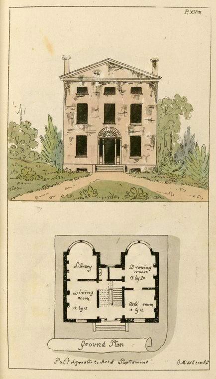 Plan d'une maison par Charles Middleton, 1799