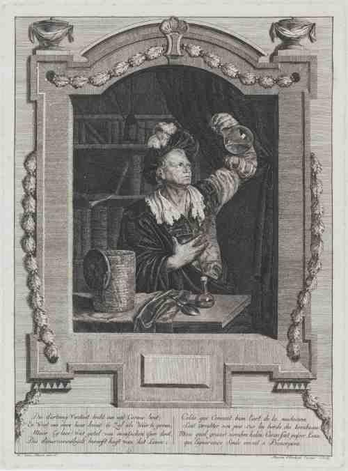 «De piskijker», gravure d'Elisabeth Marie Simons