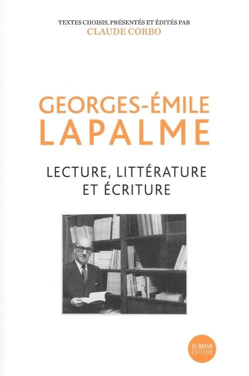 Georges-Émile Lapalme, Lecture, littérature et écriture, 2019, couverture