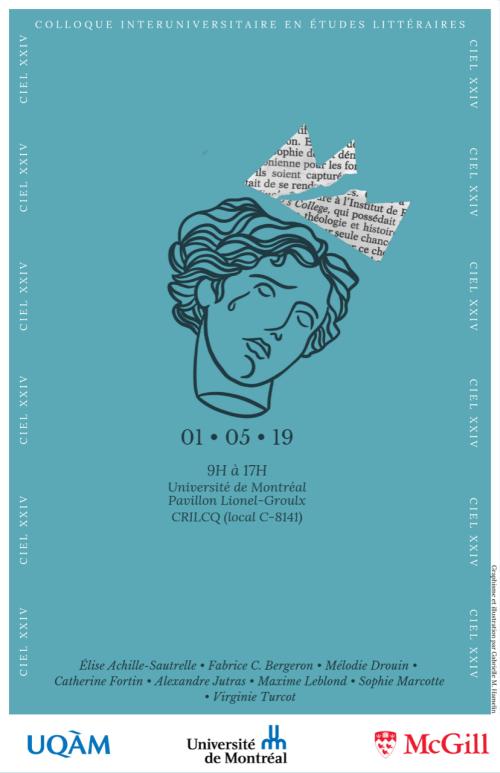 Affiche de la 24e édition du Colloque interuniversitaire en études littéraires (CIEL)