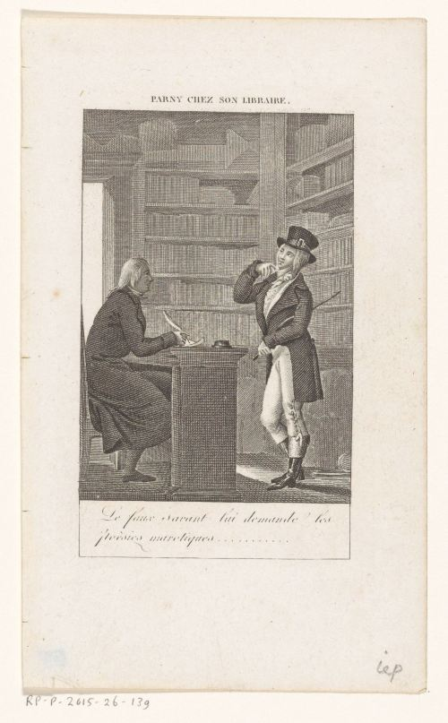 «Parny chez son libraire», gravure anonyme, après 1800