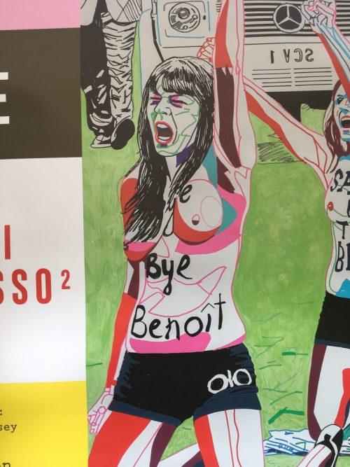 «Bye Benoît», affiche, Paris, avril 2019