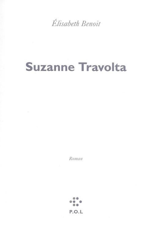Élisabeth Benoit, Suzanne Travolta, 2019, couverture