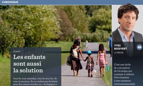 Yves Boisvert, la Presse+, 18 août 2019, titre