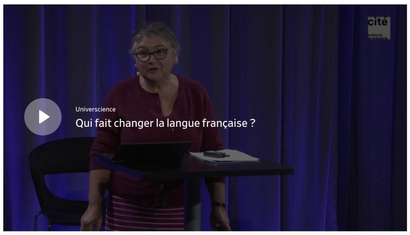 Conférence «Qui fait changer la langue française ?», page d'accueil