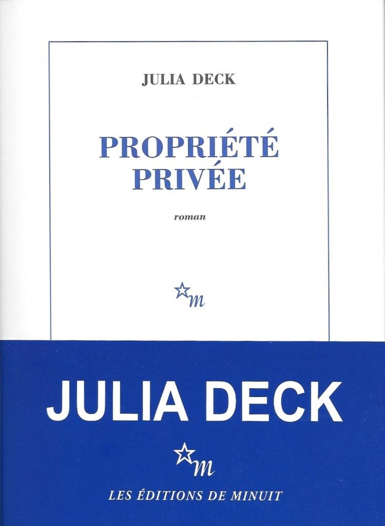 Julia Deck, Propriété privée, 2019, couverture