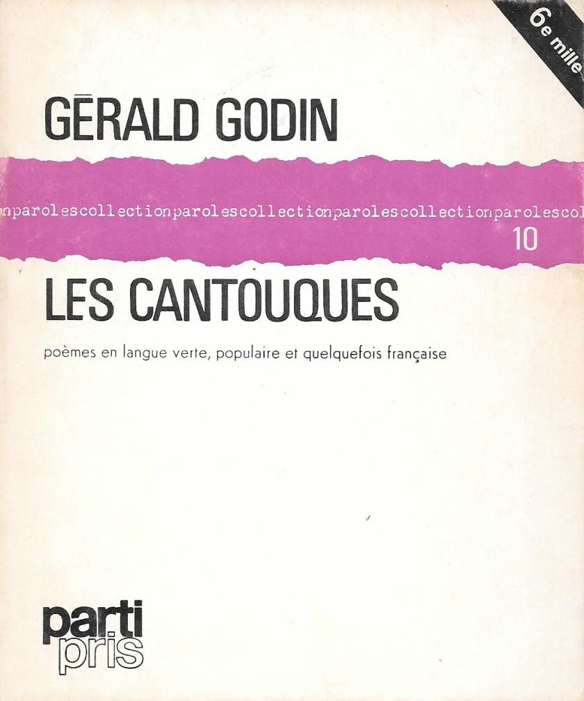 Gérald Godin, les Cantouques, éd. de 1971, couverture