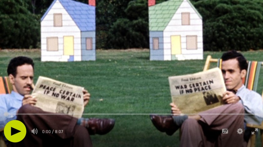 Neighbours / Les Voisins, film de Norman McLaren, Office national du film du Canada, 1952