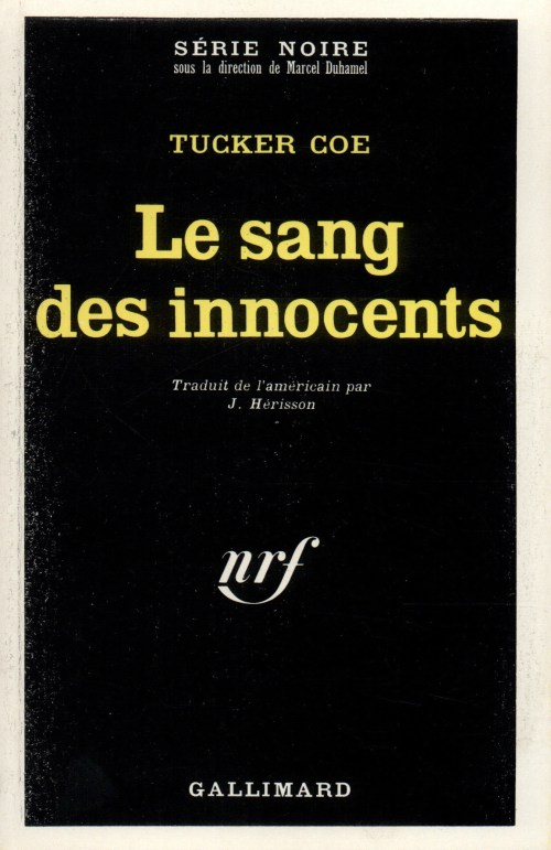Tucker Coe, le Sang des innocents, 1968, couverture