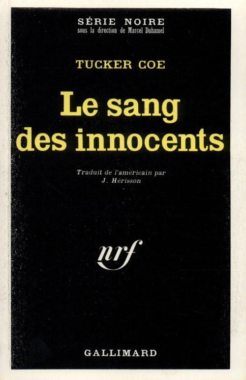 Tucker Coe, le Sang des innocents, 1968, couverture