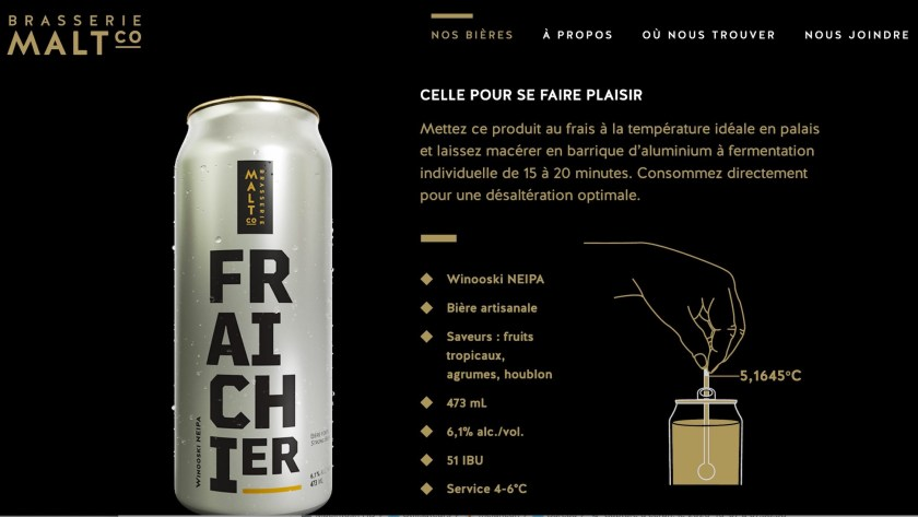 Bière La fraîchier, Brasserie Maltco, 2020