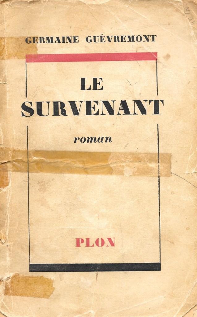 Germaine Guèvremont, le Survenant, éd. de 1954, couverture