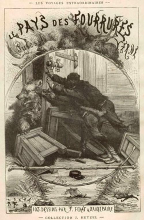 Jules Verne, le Pays des fourrures, éd. de 1873, couverture