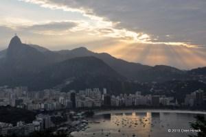 View of Rio de Janeiro including the Christ the Redeemer Statue from Pão de Açúcar (Sugarloaf Mountain)July 28, 2010