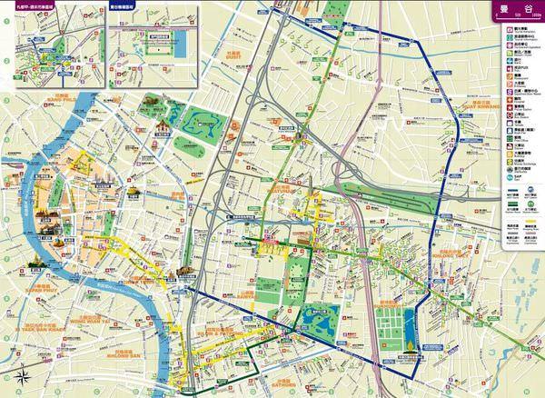 曼谷自由行。曼谷中文地圖 清晰版(曼谷自由行必備) OREO的旅行日記