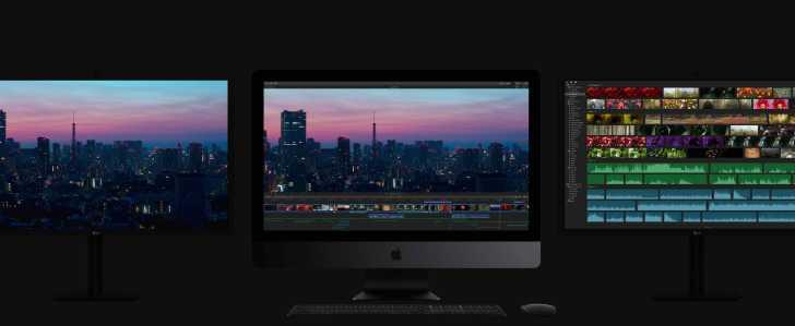 iMac Pro ディスプレイ環境の写真