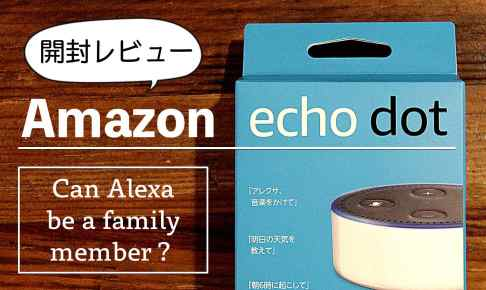 AmazonEchoDotレビュー記事のアイキャッチ