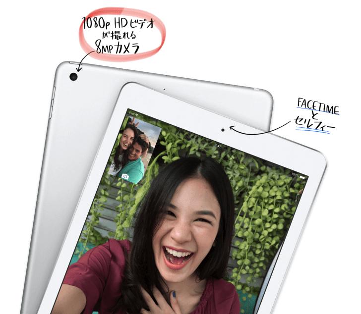 新しいiPadのカメラや写真の参照画像