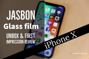 iPhone X用Jasbon液晶保護ガラスフィルム記事のアイキャッチ写真