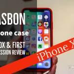 iPhone X Jasbon シリコンケースの記事のアイキャッチ画像