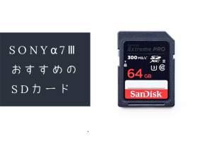 α7ⅢにおすすめのSDカードの記事のアイキャッチ