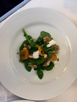 My teacher Tiffin arranged this more minimal salad.