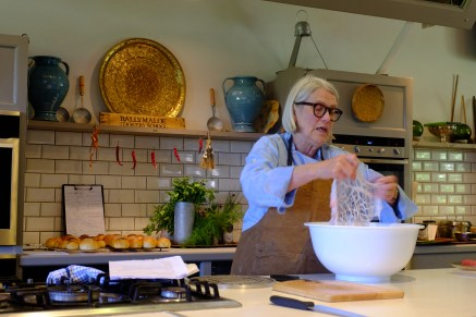 Here Darina is cooking with caul fat